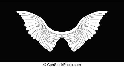 angyal, fekete, kasfogó, fehér, elterjed