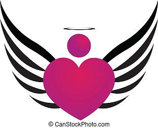 angyal, rózsaszínű