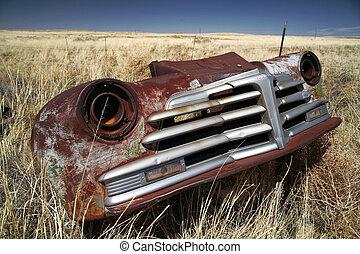 antik autó, amerikai, szabadban