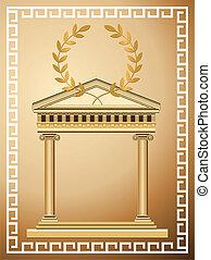 antik, görög, háttér