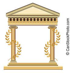 antik, görög, halánték