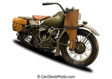 antik, hadi, motorkerékpár