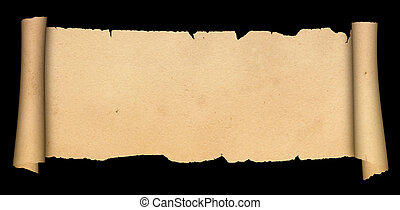antik, scroll.