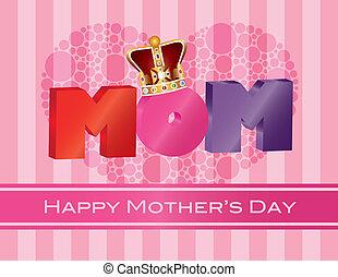 anyák, abc, fejtető, köszönés, ábra, anyu, nap, kártya