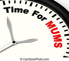 anyák, szünet, jelentés, idő, mama, üzenet