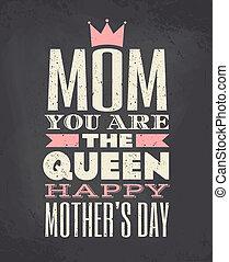 anya nap, kártya, köszönés