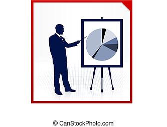 anyagi grafikon, háttér, ember, pite, ügy
