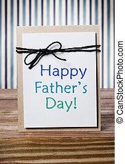 apák, üzenet, kártya, nap