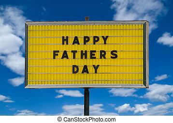 apák, boldog, üzenet, nap