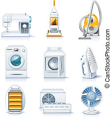 appliances., háztartás, vektor, p.4