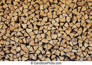 aprított, tél, elbocsát, előkészített, fa felhalmoz