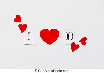 apuka, sok, tető, fehér, üzenet, day., háttér., születésnap, dolgozat, piros, nézet., apák