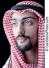 arab, öltözet, ember
