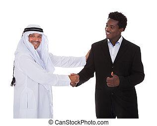 arab, kezezés reszkető, ember, afrikai
