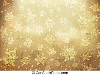 arany-, ábra, elvont, eps10., háttér., vektor, karácsony