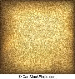arany-, ábra, szüret, eps10., háttér., vektor