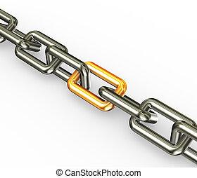 arany-, összekapcsol, lánc