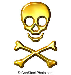 arany-, 3, keresztezett lábszárcsontok