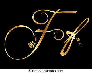 arany-, agancsrózsák, vektor, levél f