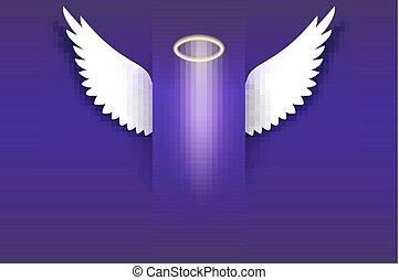 arany-, angyal, sötét, lebegés, kasfogó, dicsfénnyel övezni