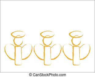 arany-, angyalok, három