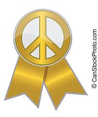 arany-, béke, szalag