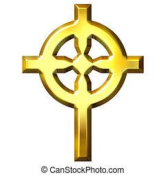 arany-, celtic kereszteződnek, 3