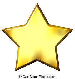 arany-, csillag, 3