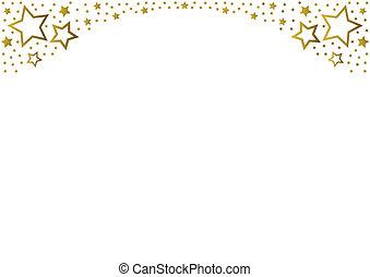 arany-, csillaggal díszít