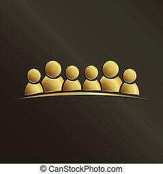 arany-, csoport, emberek, emberek., 6., csapatmunka