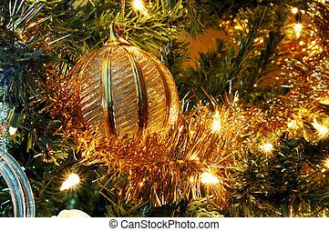 arany-, díszítés, karácsony