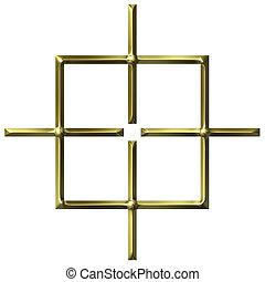 arany-, derékszögben, céltábla, 3