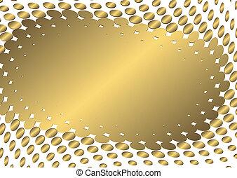 arany-, elvont, keret, (vector)