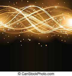arany-, elvont, lenget, csillaggal díszít, motívum