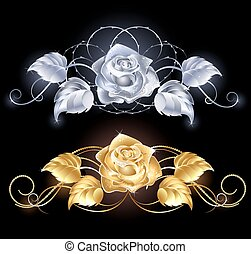 arany, ezüst, rózsa