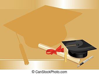 arany, fok, egyetem, köszönés, főiskola, kártya