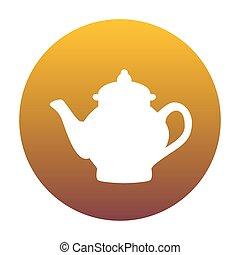 arany-, gradiens, tea, cégtábla., készítő, bac, karika, fehér, ikon