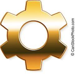 arany-, grafikus, bekapcsol, vektor, tervezés, logo.