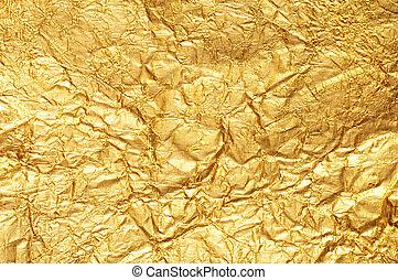 arany, gyűrött, ellentét, háttér, textured