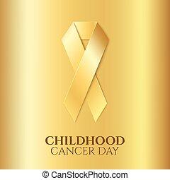 arany-, gyermekkor, rák, ribbon.