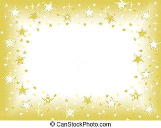 arany, háttér, csillag