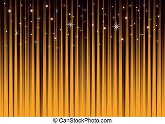 arany, háttér, csillaggal díszít, csíkos