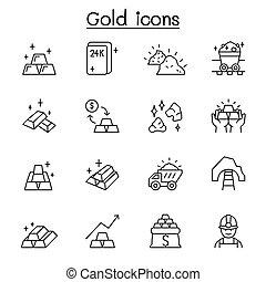arany, híg, mód, egyenes, ikon, állhatatos