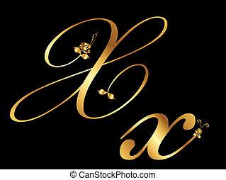 arany-, ismeretlen mennyiség, vektor, levél