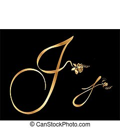 arany-, j, agancsrózsák, levél