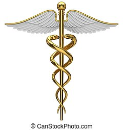arany-, jelkép, orvosi, pusztulásnak indult