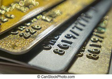 arany, kártya, feláll, platina, hitel, becsuk