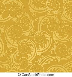 arany-, kavarog, tapéta, seamless