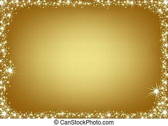 arany-, keret, karácsony