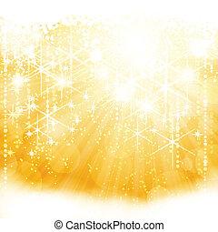 arany-, kitörés, fény, elvont, szikrázó, állati tüdő, csillaggal díszít, elmosódott